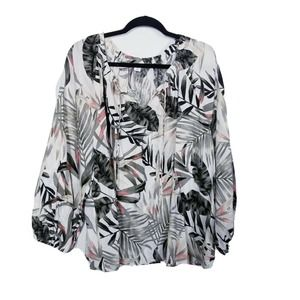 Old Navy XXL tropical floral blouse womens